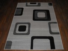 Modern Approx 6x4ft 120x170cm Woven Backed Grey/black Sale Quality Squares Rugs